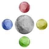 Orbes metálicos Fotos de archivo
