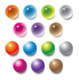 Orbes multicolores del vector Imágenes de archivo libres de regalías