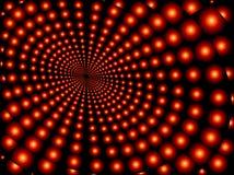 Orbes rojos convergentes Imagen de archivo libre de regalías