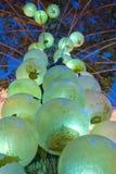Orbes verdes Foto de archivo libre de regalías
