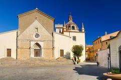 Orbetello大教堂(中央寺院- toscana -意大利) 库存照片
