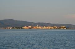 Orbetello seen from the lagoon Stock Photos