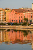Orbetello seen from the lagoon Royalty Free Stock Images