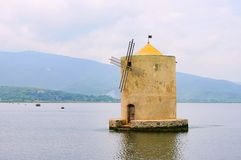 Orbetello windmill Royalty Free Stock Images