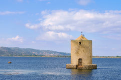 Orbetello windmill Stock Image