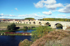 Orbigo bridge Royalty Free Stock Image