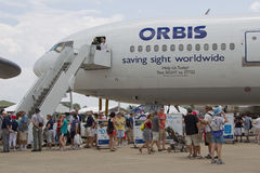 Orbis latania oka szpitala samolot Obraz Royalty Free