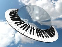 Orbit. Round music keyboard Royalty Free Stock Photos