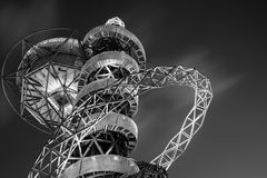 Orbit. The ArcelorMittal Orbit is a 114.5 metre tall sculpture and observation tower in the Queen Elizabeth Olympic Park in Stratford, London Stock Image