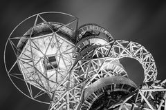 Orbit. LONDON - MAY 11 2016. The Arcelor Mittal Orbit is a 114.5 metre tall sculpture and observation tower from the Olympic Games, designed by Anish Kapoor and Stock Photography