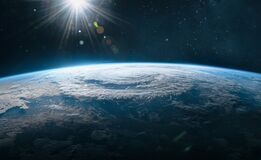 Free Orbit Of Planet Earth In Outer Space. Royalty Free Stock Photos - 187449188