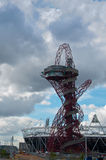 Orbit and stadium at the olympic park in London. LONDON, United Kingdom - APRIL 10: The Orbit at the Olympic Park in London is the highest structure in Britain Royalty Free Stock Photo