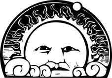 Orbita del fronte e del pianeta di Sun royalty illustrazione gratis