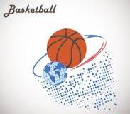 Orbita di pallacanestro Fotografie Stock Libere da Diritti