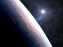 Orbita intorno ad un altro pianeta Fotografia Stock Libera da Diritti