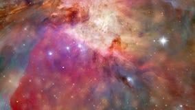 Orbita intorno alla galassia ed alle stelle del pianeta illustrazione vettoriale