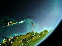 Orbita widok Karaiby Zdjęcia Royalty Free