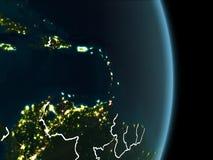 Orbita widok Karaiby przy nocą Obraz Stock