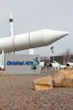 Orbitaal ATK-Voorgebergte Rocket Garden Stock Fotografie
