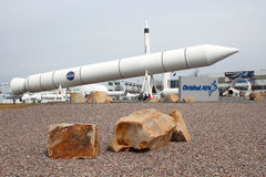 Orbital ATK Promontory Rocket Garden. Orbital ATK Inc. is an American aerospace manufacturer and defense industry company. Orbital ATK`s Space Systems Group Royalty Free Stock Photography