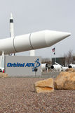Orbital ATK Promontory Rocket Garden. Orbital ATK Inc. is an American aerospace manufacturer and defense industry company. Orbital ATK`s Space Systems Group Stock Photography