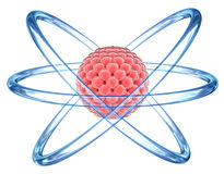 Orbital Atom model - elementary particle Stock Image