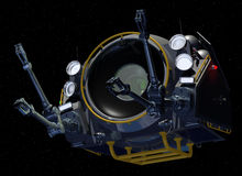 Orbital Construction Handler. Front View of Orbital Construction Pod Royalty Free Stock Images