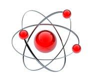 Orbital model of atom. Isolated on white - 3d render Royalty Free Illustration