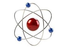 Orbital model of atom. Isolated on white background vector illustration