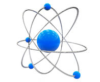 Orbital model of atom Stock Image