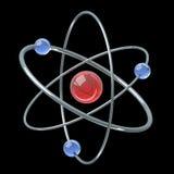 Orbital model of atom - physics 3D illustration Stock Photo