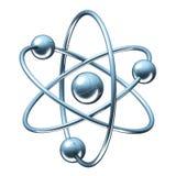 Orbital model of atom - physics 3D illustration Stock Photography