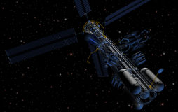 Orbital Refuelling Station. Orbital platform for refueling operations Royalty Free Stock Photo