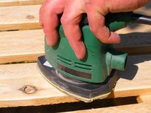 Orbital sander Royalty Free Stock Image