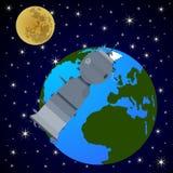Orbital satellite station-1 Royalty Free Stock Images