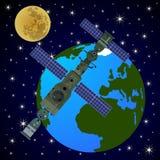 Orbital satellite station-3 Stock Photography