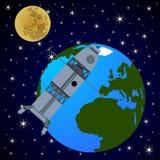 Orbital satellite station Stock Image