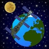 Orbital satellite station-5 Royalty Free Stock Photography