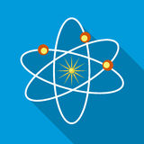 Orbital sectoral fields of the planets icon. Orbital sectoral fields of the planets as they move around the Sun icon in flat style on a sky blue background Stock Image