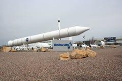 OrbitalATK-udde Rocket Garden Arkivbild