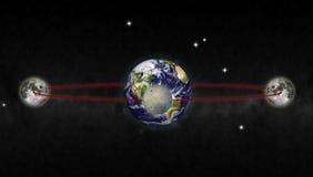 Orbite de lune illustration stock