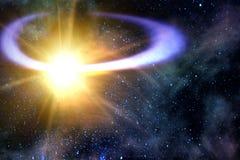 Orbite de vol de comète tombée Photographie stock