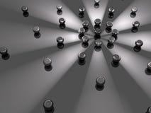 Orbite légère de sphères Image libre de droits