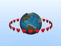 orbiting för hjärtor Arkivbilder