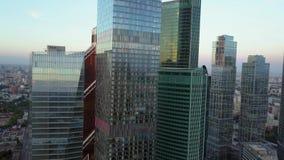 Orbiting glass skyscrapers