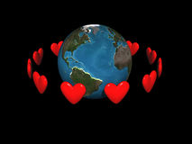 Orbiting hearts Royalty Free Stock Image