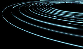 Orbiting Light Trails. A collection of light rings orbiting round a central point Stock Images