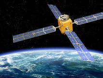 Orbiting Satellite Stock Photo