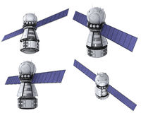 Orbiting satellite set Royalty Free Stock Photography