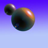 Orbs. An Abstract of a spheres over purple gradients Royalty Free Stock Image